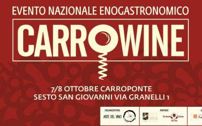 FISAR Milano è Partner Tecnico di CarroWine, 7/8 Ottobre, al Carroponte di Sesto San Giovanni: in arrivo un ricco programma di iniziative